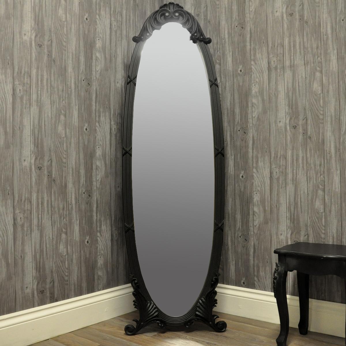Full Length Mirror Uk Edmonton Leaner Mirror Modern Mirror Full Inside Oval Freestanding Mirror (View 5 of 15)