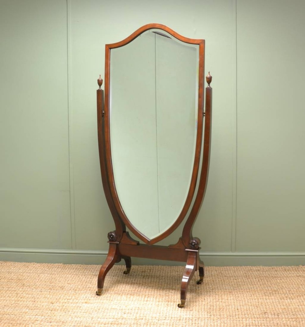 Full Length Mirror Uk Edmonton Leaner Mirror Modern Mirror Full Throughout Antique Full Length Mirror (Image 10 of 15)