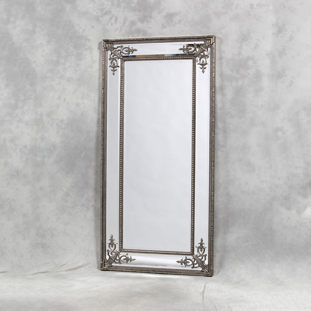 Full Length Mirror Uk Edmonton Leaner Mirror Modern Mirror Full With Regard To Silver Full Length Mirror (Image 3 of 15)