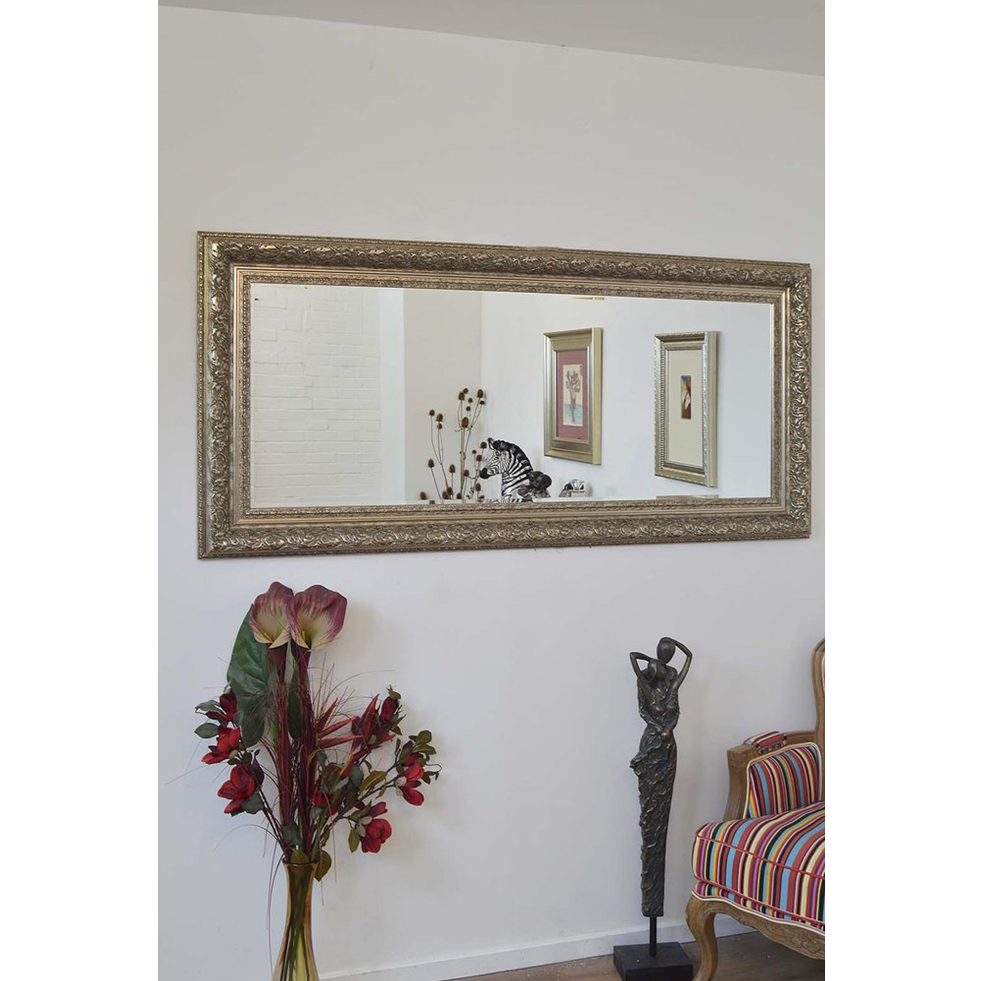 Full Length Silver Antique French Style Mirror Decorative Mirrors With French Style Mirrors (Image 7 of 15)