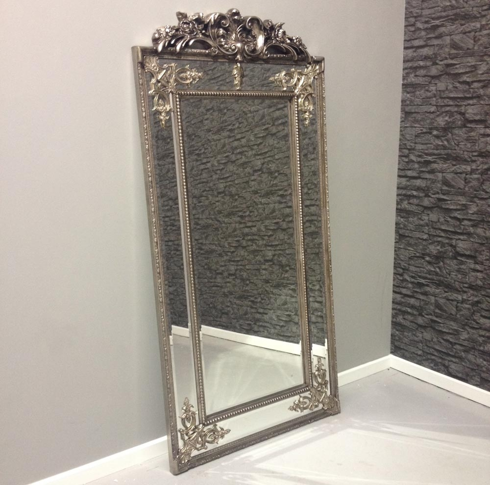 Full Length Silver Mirror 82 Beautiful Decoration Also Large Full With Regard To Silver Full Length Mirror (Image 5 of 15)