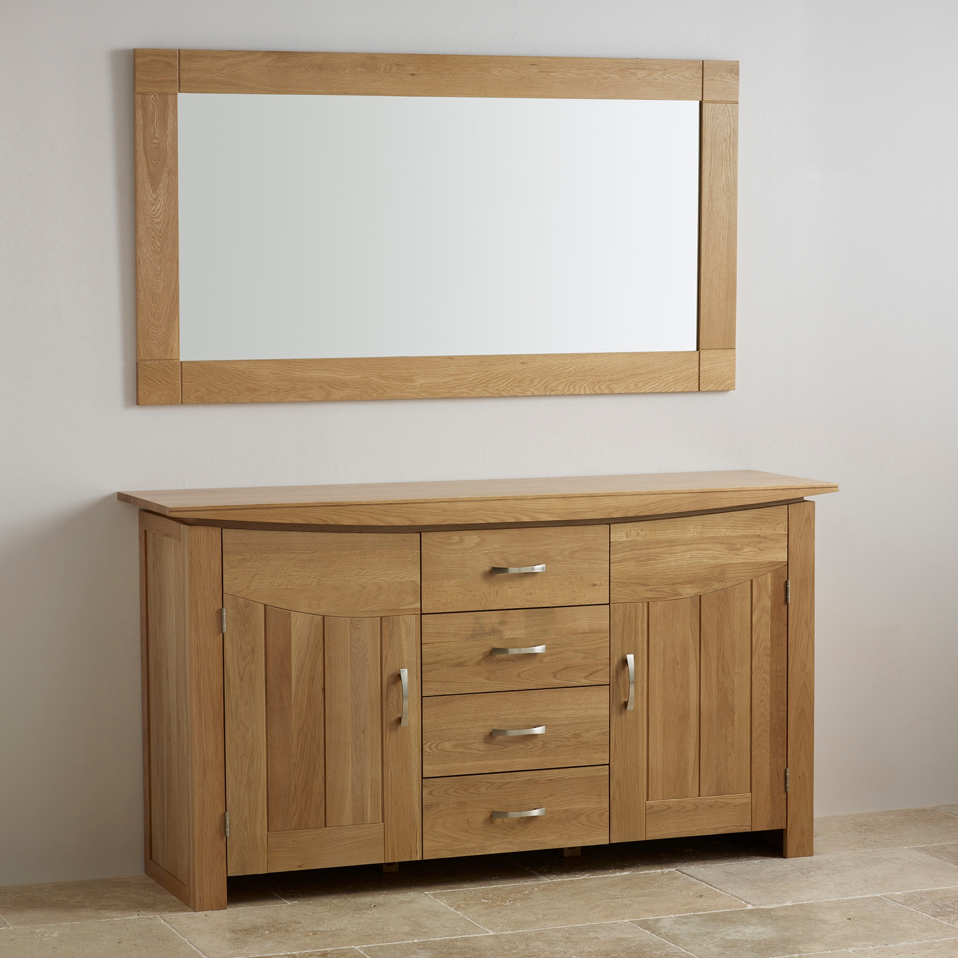 Full Length Table And Wall Mirrors Oak Furniture Land Pertaining To Oak Mirrors (Image 3 of 15)