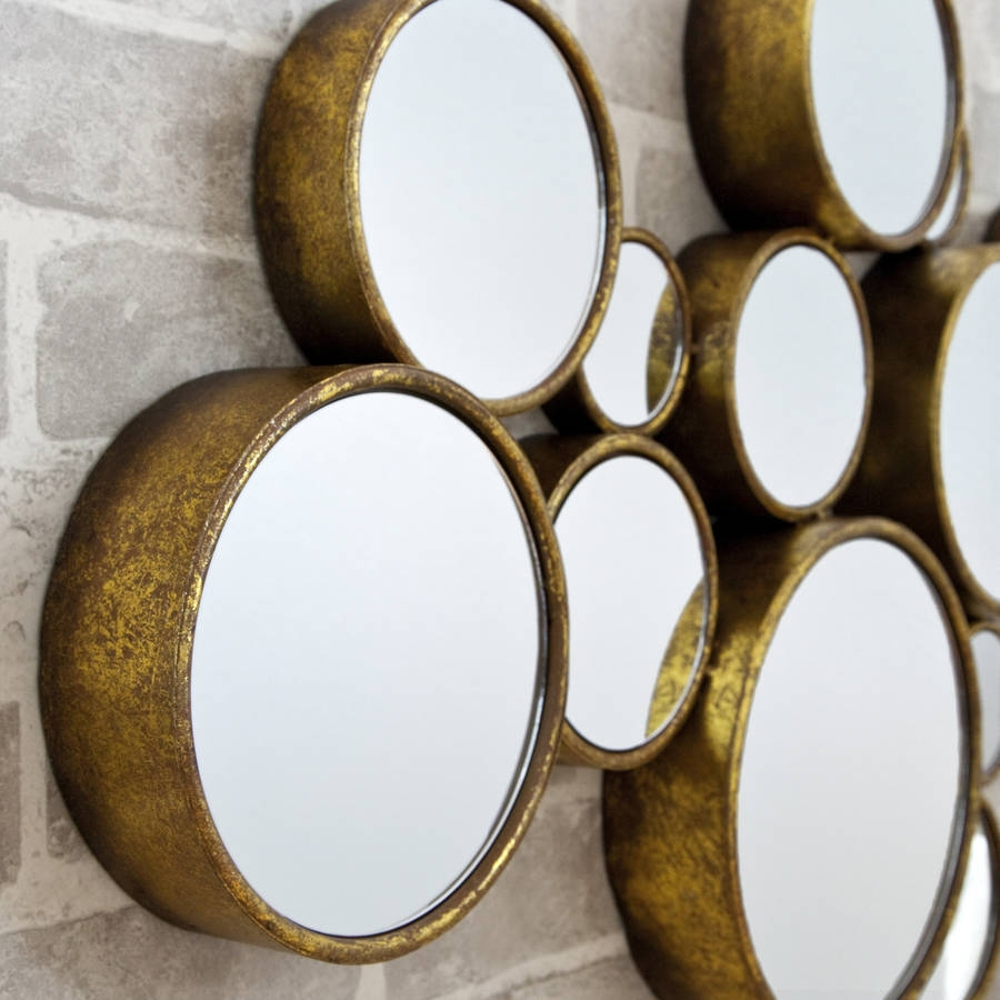 Funky Circles Mirror Decorative Mirrors Online Intended For Funky Mirrors (Image 7 of 15)