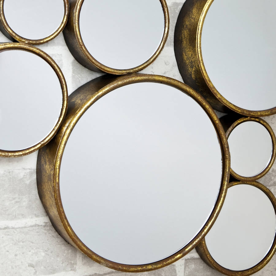Funky Circles Mirror Decorative Mirrors Online Regarding Funky Mirrors (Image 8 of 15)