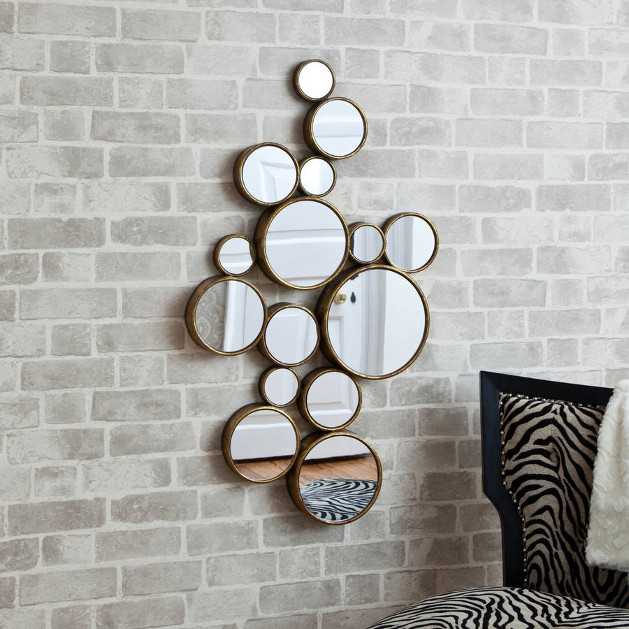 Funky Circles Mirror Mirrors Online And Decorative Mirrors Throughout Funky Wall Mirror (Image 5 of 15)