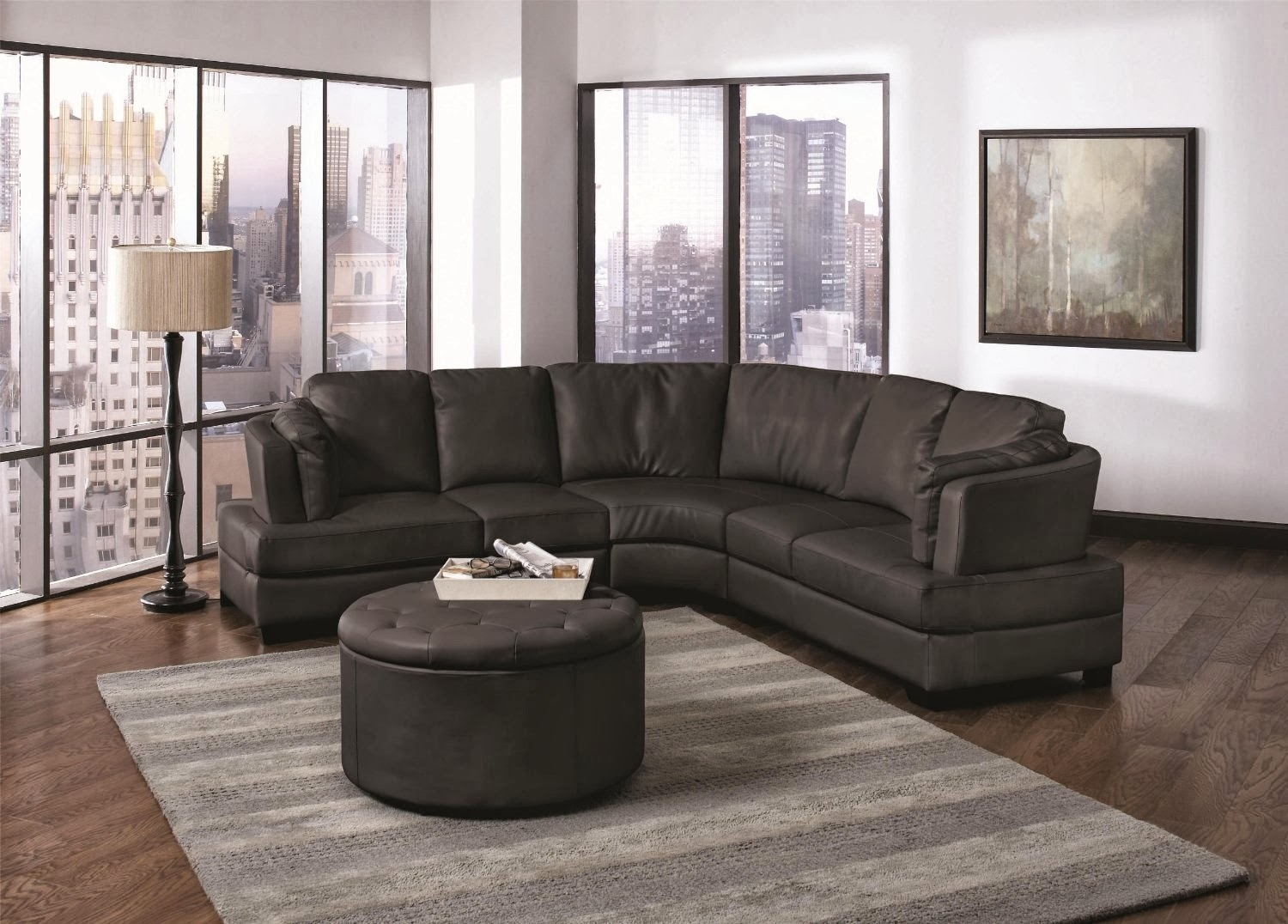 Furniture Alluring Unique Curved Couches With Classic Design Home For Curved Sectional Sofa With Recliner (Image 7 of 15)