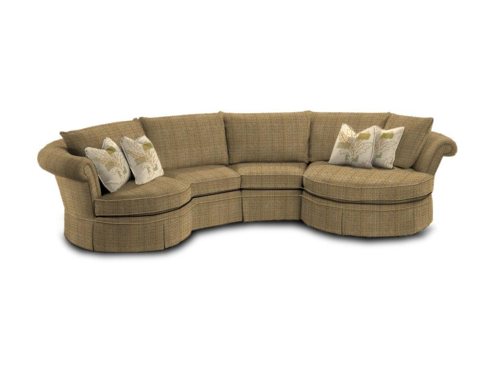 Furniture Alluring Unique Curved Couches With Classic Design Home Throughout Circle Sectional Sofa (Image 7 of 15)