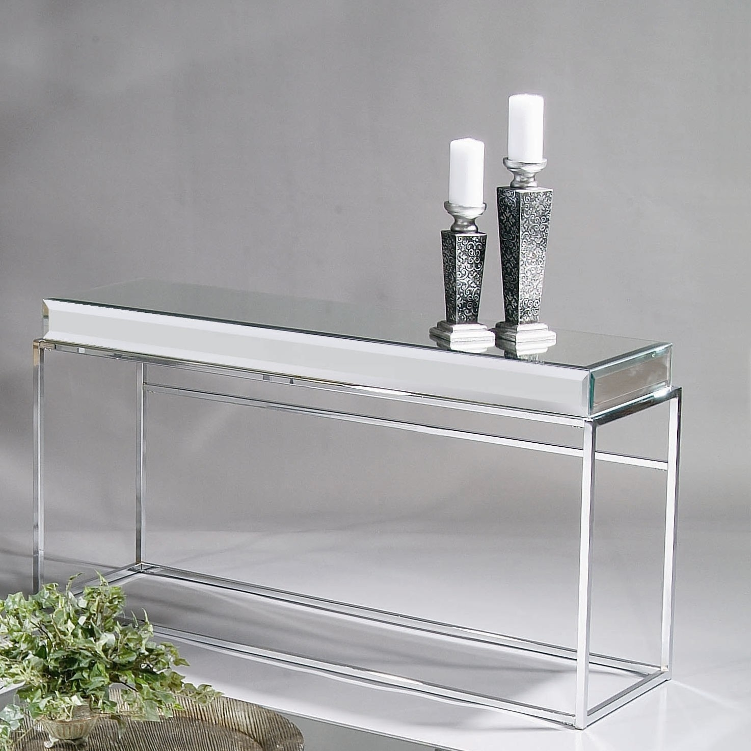 Furniture Amazing Mirrored Console Table Complete With Mirror With Regard To Mirrored Occasional Tables (Image 8 of 15)