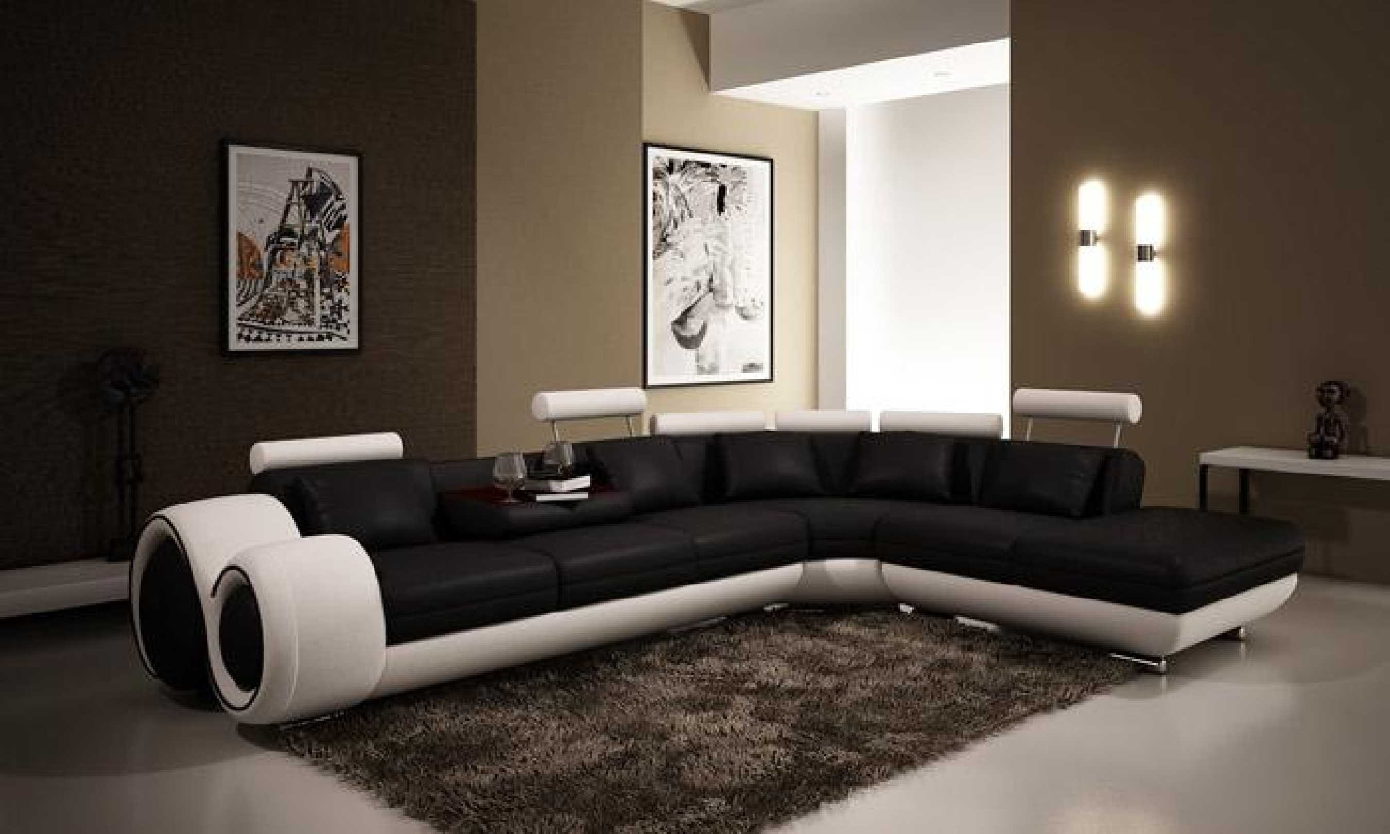 Furniture Black And White Sectional Using Black And White Throughout Black And White Sectional Sofa (View 9 of 15)