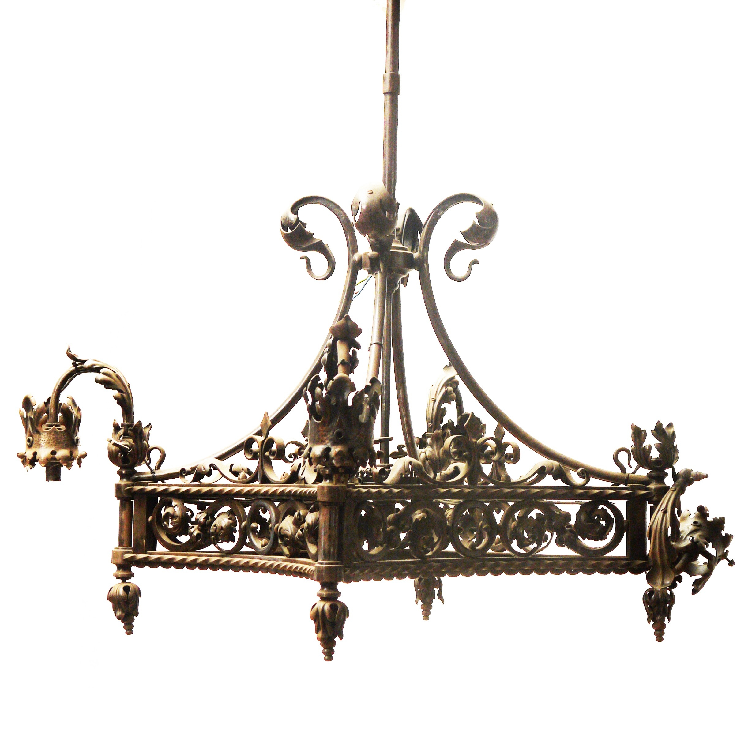 Furniture Classic French Chandelier Antique For Your Home Pertaining To Vintage Wrought Iron Chandelier (Image 6 of 15)