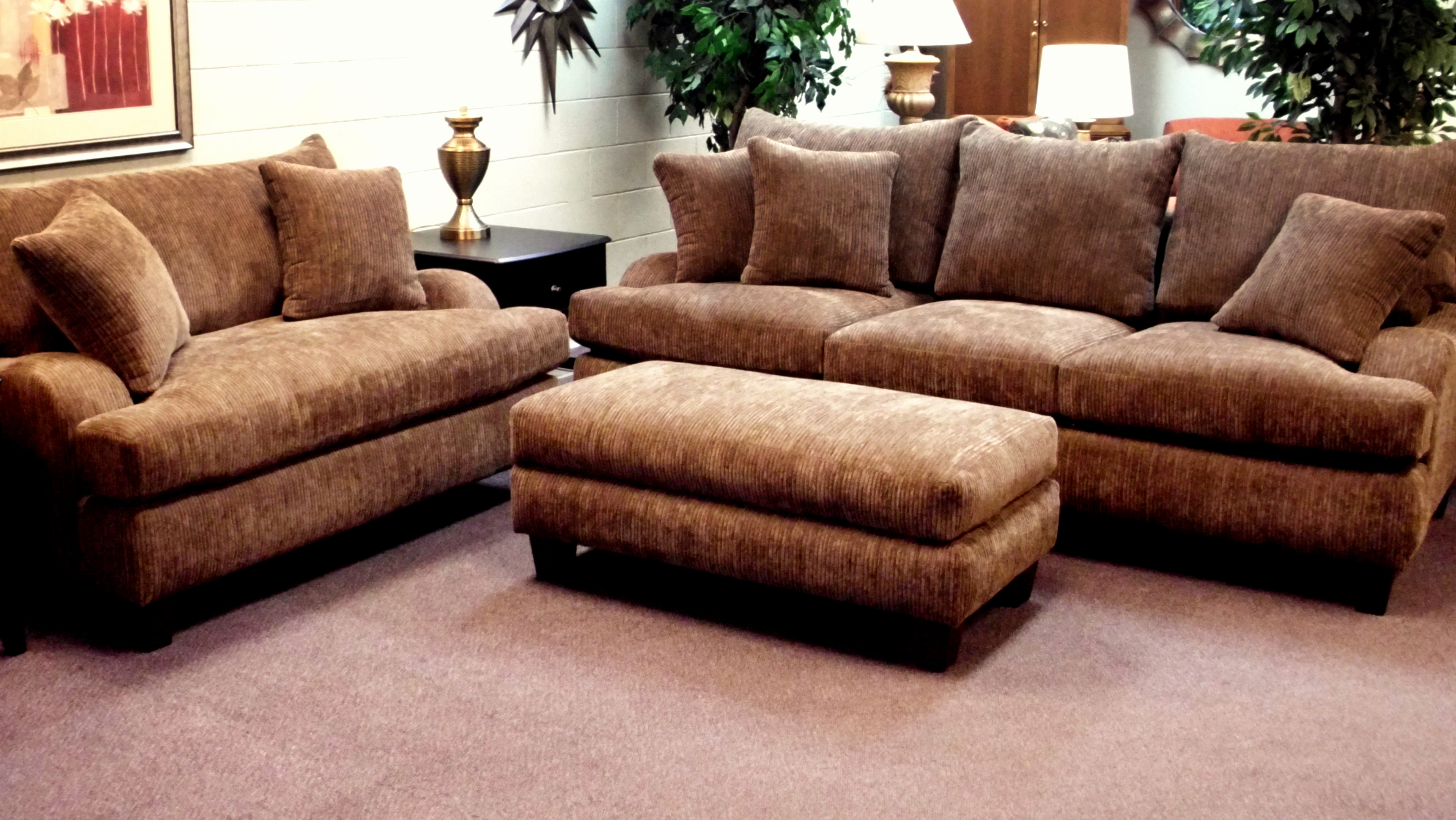 Furniture Comfy Design Of Oversized Couch For Charming Living Throughout Deep Cushion Sofa (Image 7 of 15)