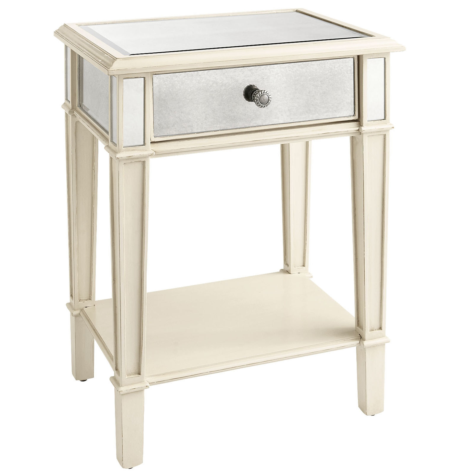Furniture Complete Your Bedroom With Beautiful Mirrored With Antique Mirrored Bedside Tables (Image 11 of 15)