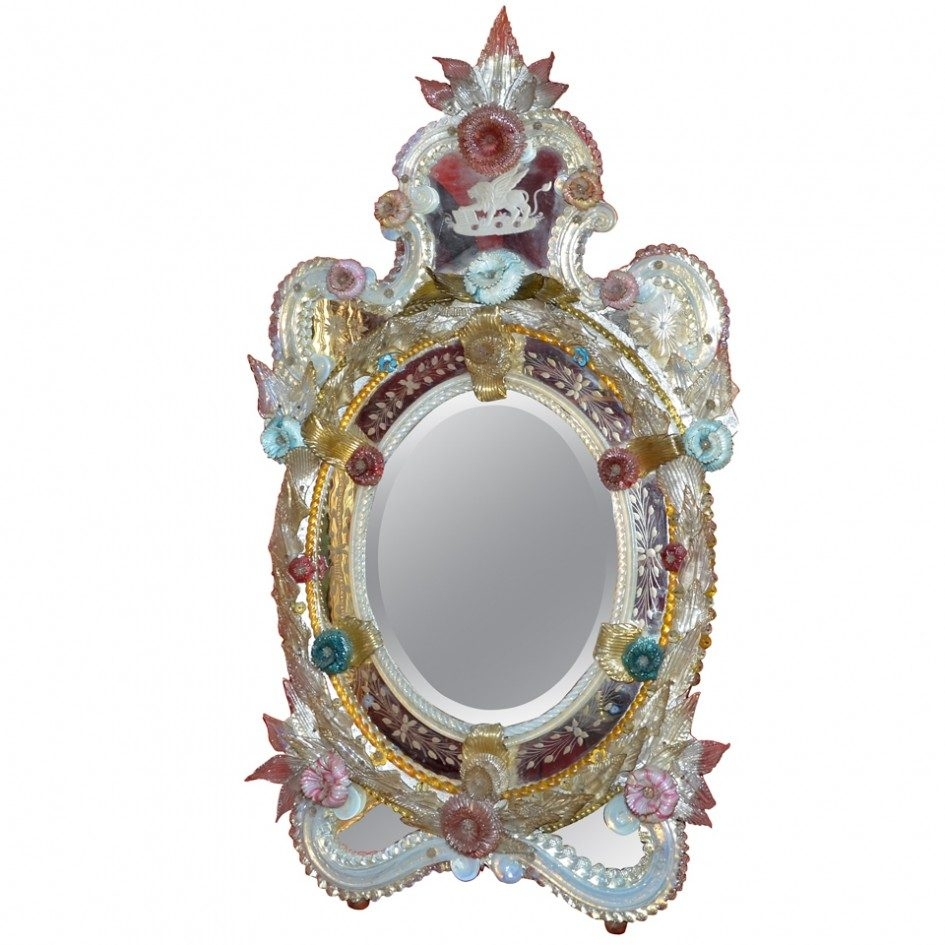 Furniture Engaging Images Of Antique Venetian Glass Mirror As In Venetian Glass Mirrors Antique (Image 13 of 15)
