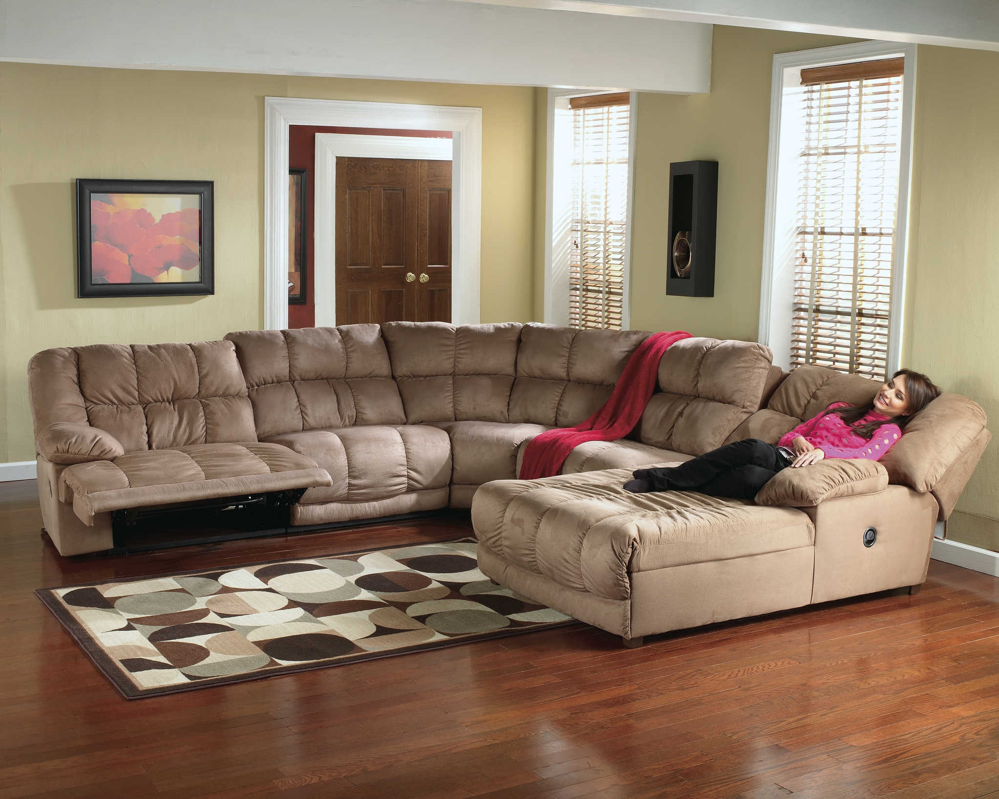 Furniture Extra Large Sofa Oversized Couch Deep Cushion Couch Pertaining To Deep Cushion Sofa (Image 12 of 15)