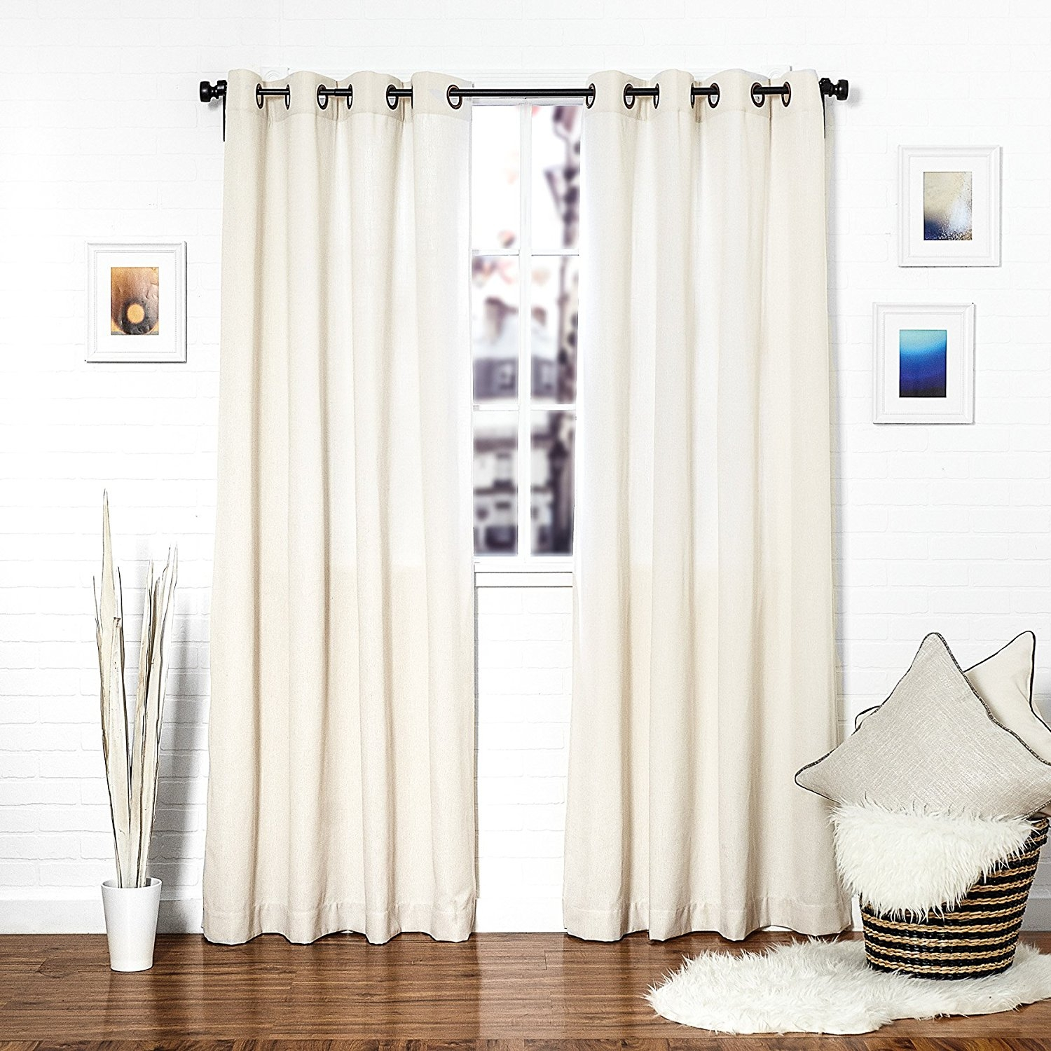 Furniture Extra Long Curtains With Brown Wooden Floor And White Throughout Extra Long Curtains (Image 10 of 15)