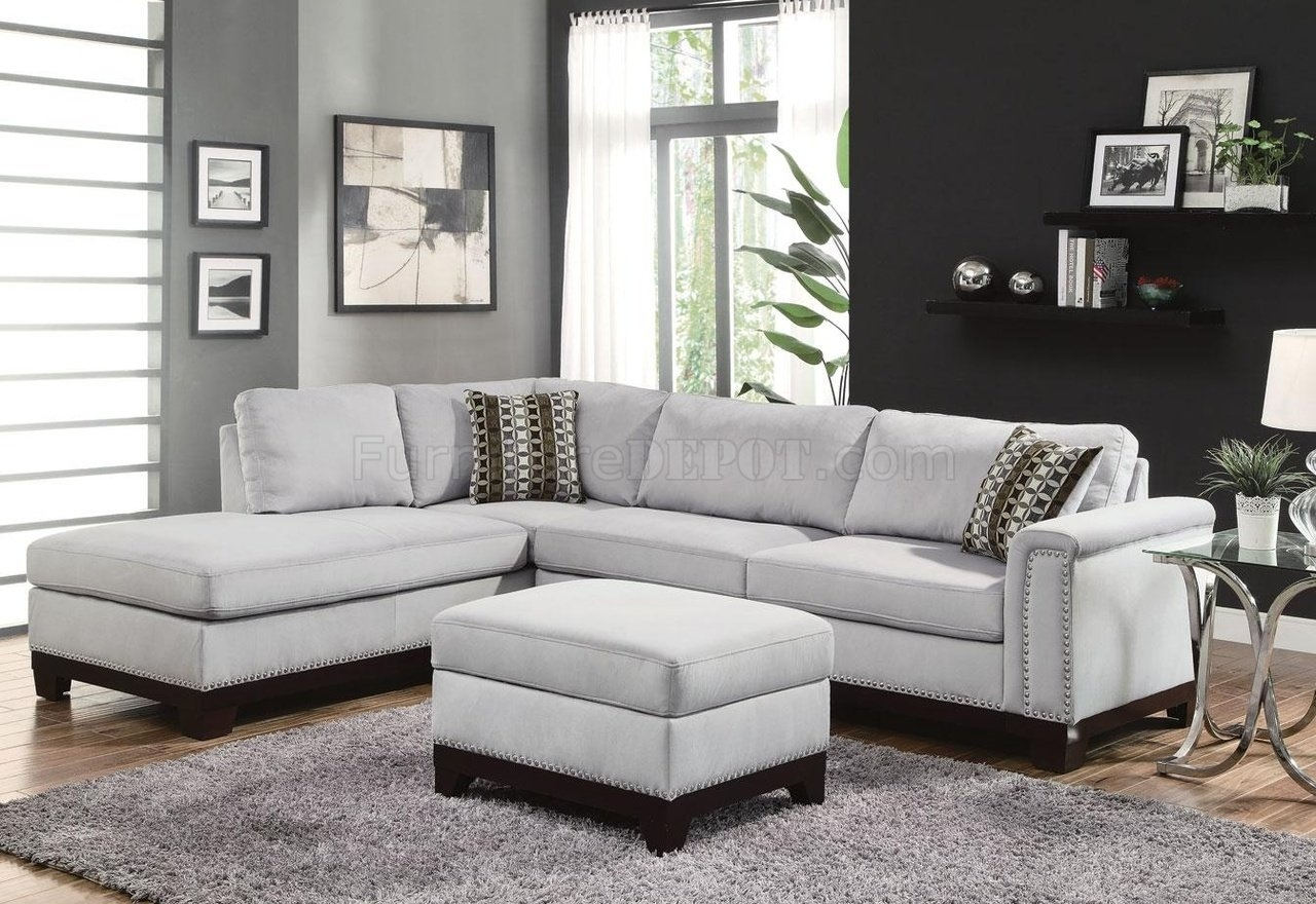 Furniture Fabric Sectionals Microfiber Sectional Sofas With Grey In Cozy Sectional Sofas (Image 7 of 15)