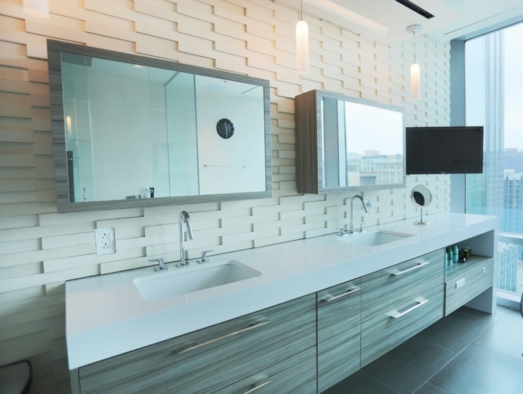 Furniture Large Mirror Sliding Door Bathroom Vanity And Rectangle For Modern Large Mirror (View 15 of 15)
