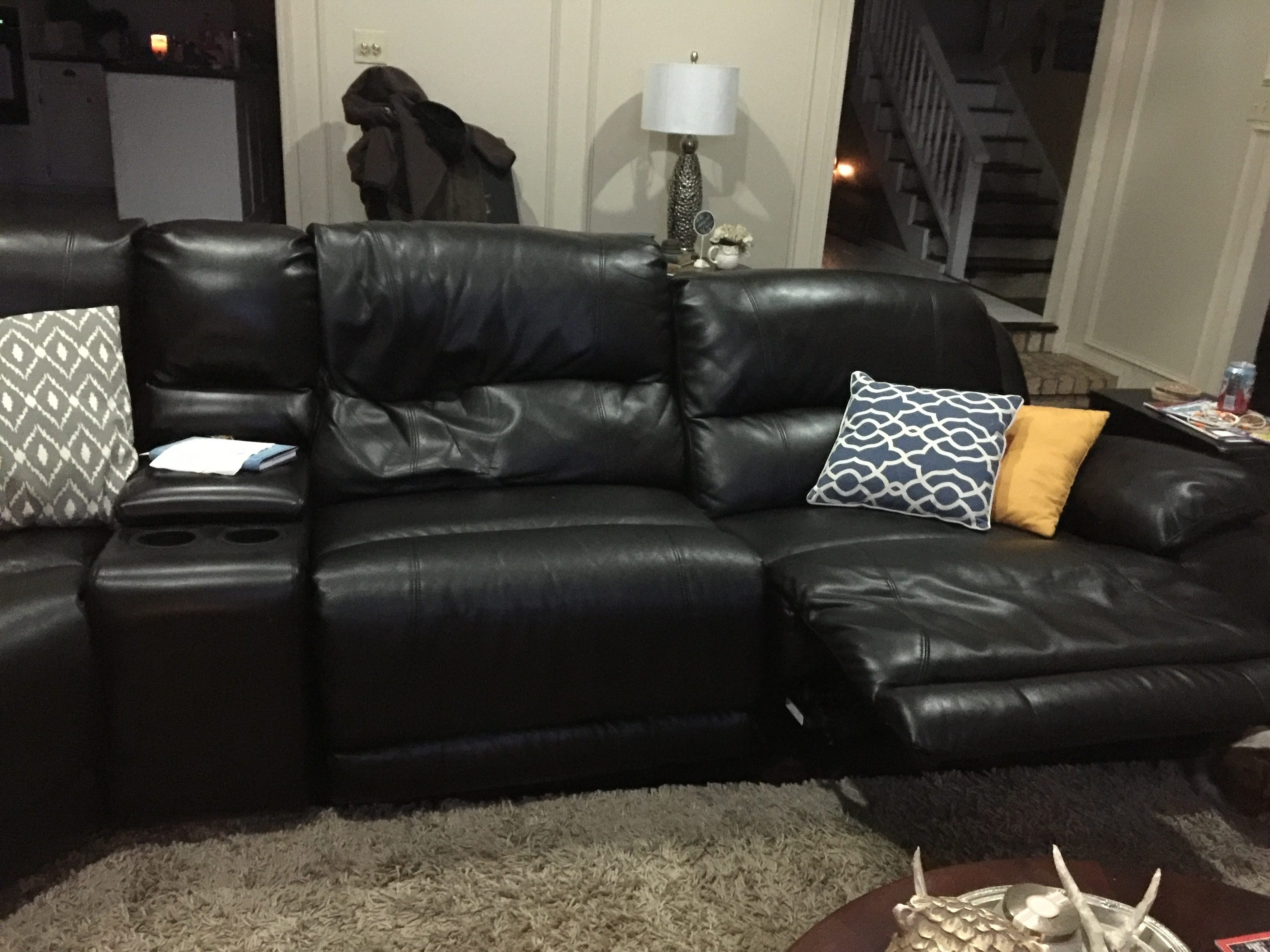 Furniture Nice Black Leather Sofa Design Ideas With Craigslist For Craigslist Leather Sofa (Image 12 of 15)