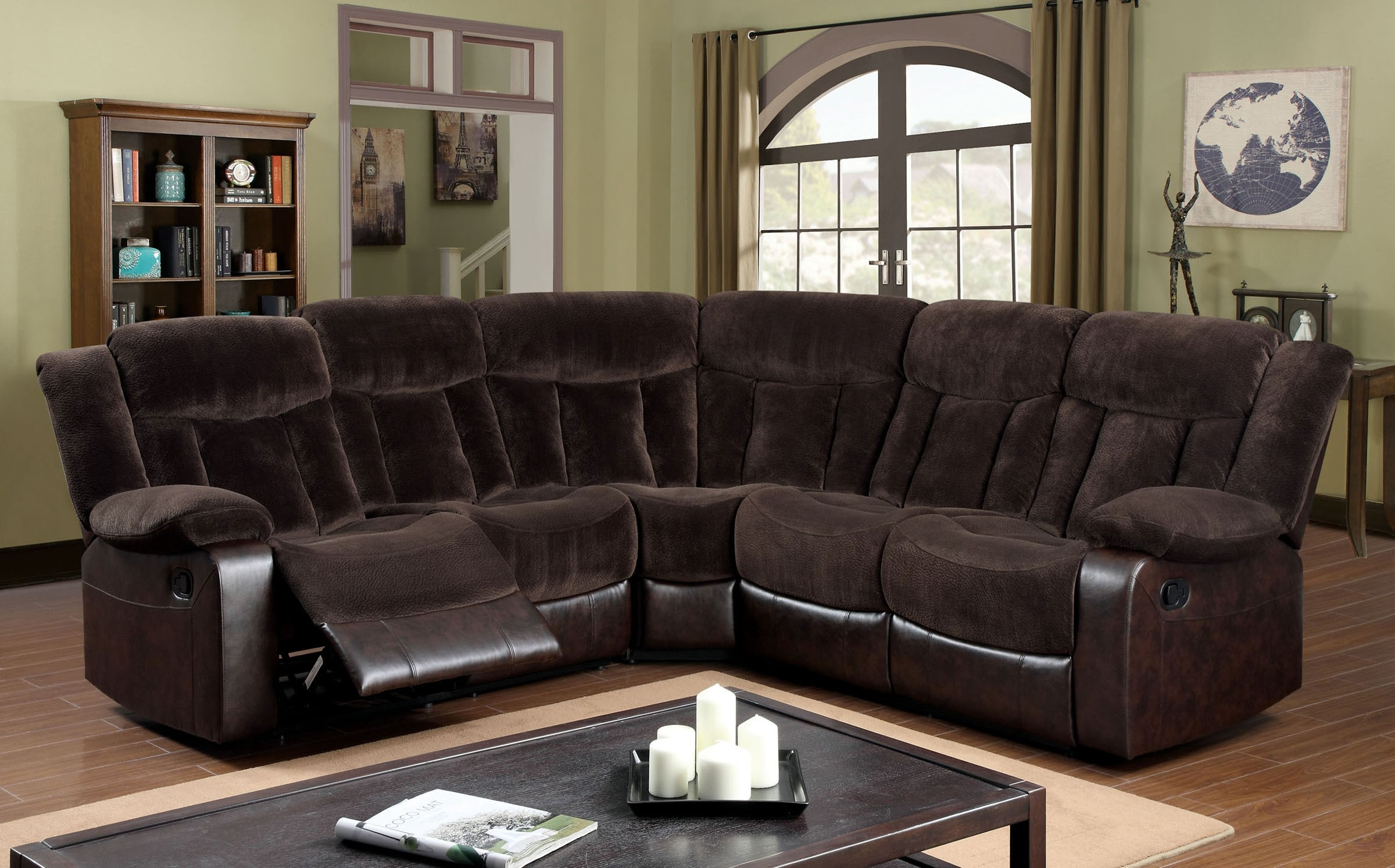 Furniture Of America Cm6809 Hampshire Transitional Brown Champion Regarding Champion Sectional Sofa (Image 7 of 15)