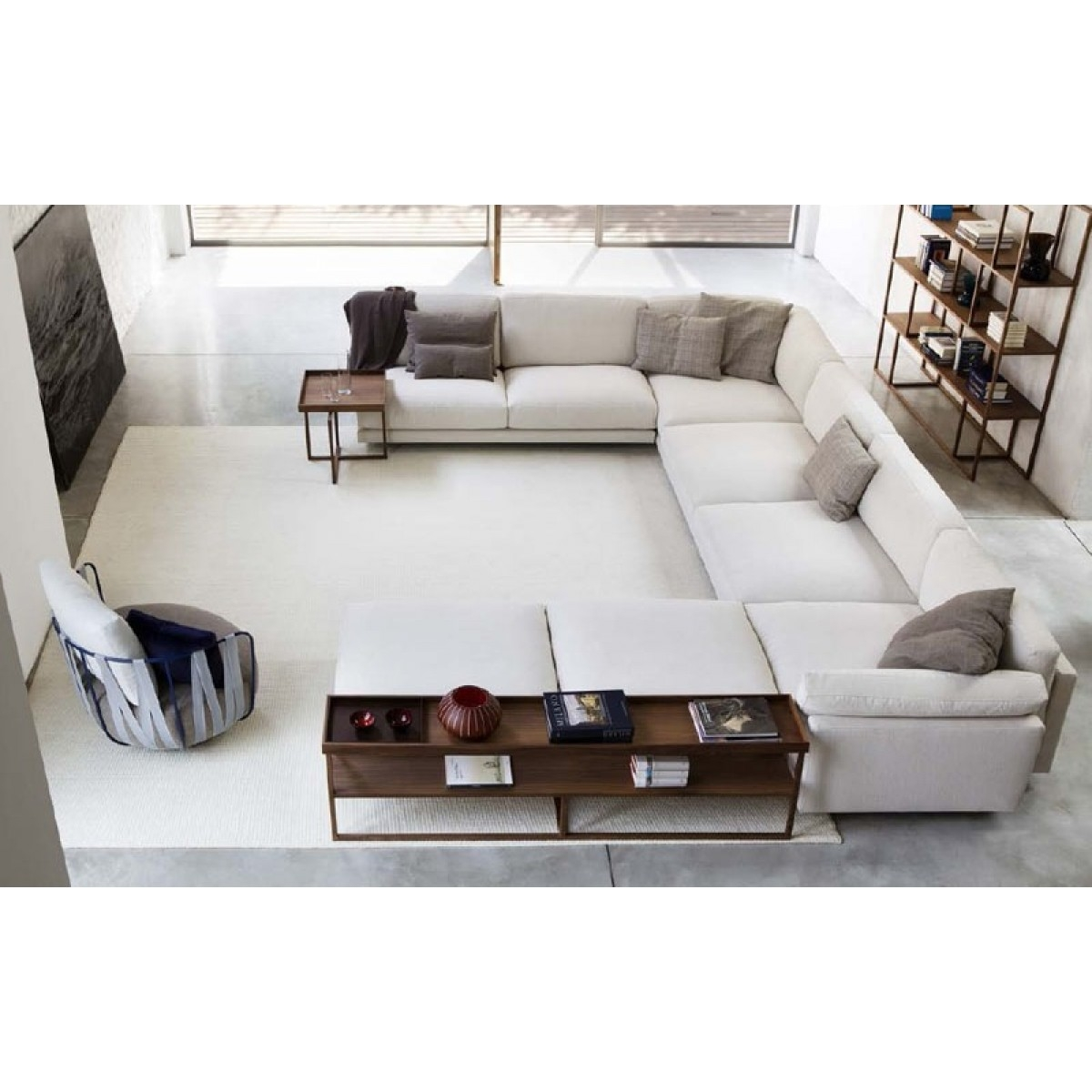 Furniture Perfect Living Furniture Ideas With Deep Seated Couch Inside Extra Wide Sectional Sofas (View 13 of 15)
