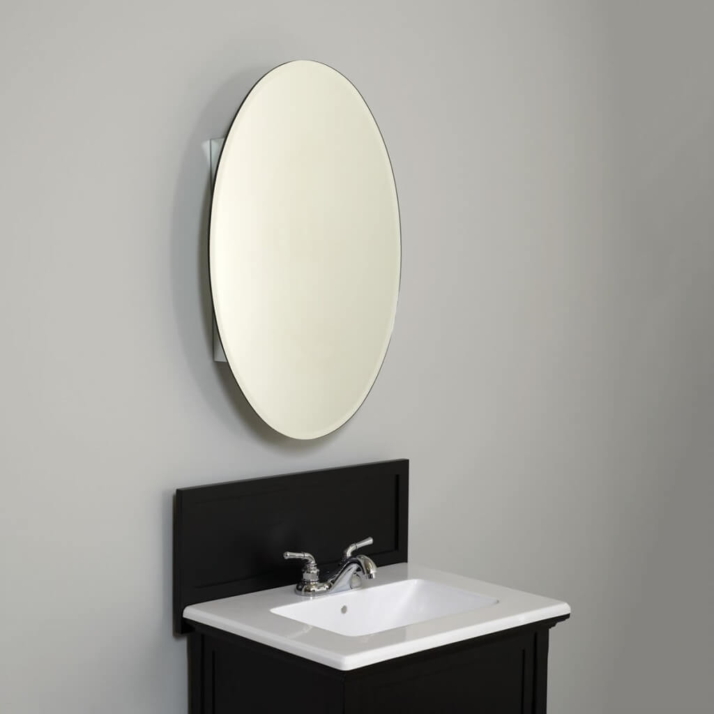 Furniture Splendid Oval Bathroom Mirrors Design With White Within White Oval Bathroom Mirror (Image 5 of 15)