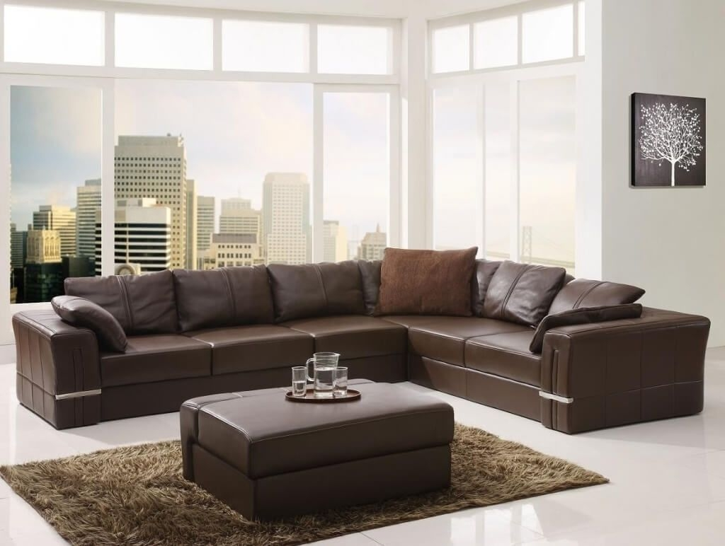 Furniture Top Grain Leather Sectional Sofa For Comfortable Regarding Dobson Sectional Sofa (Image 11 of 15)