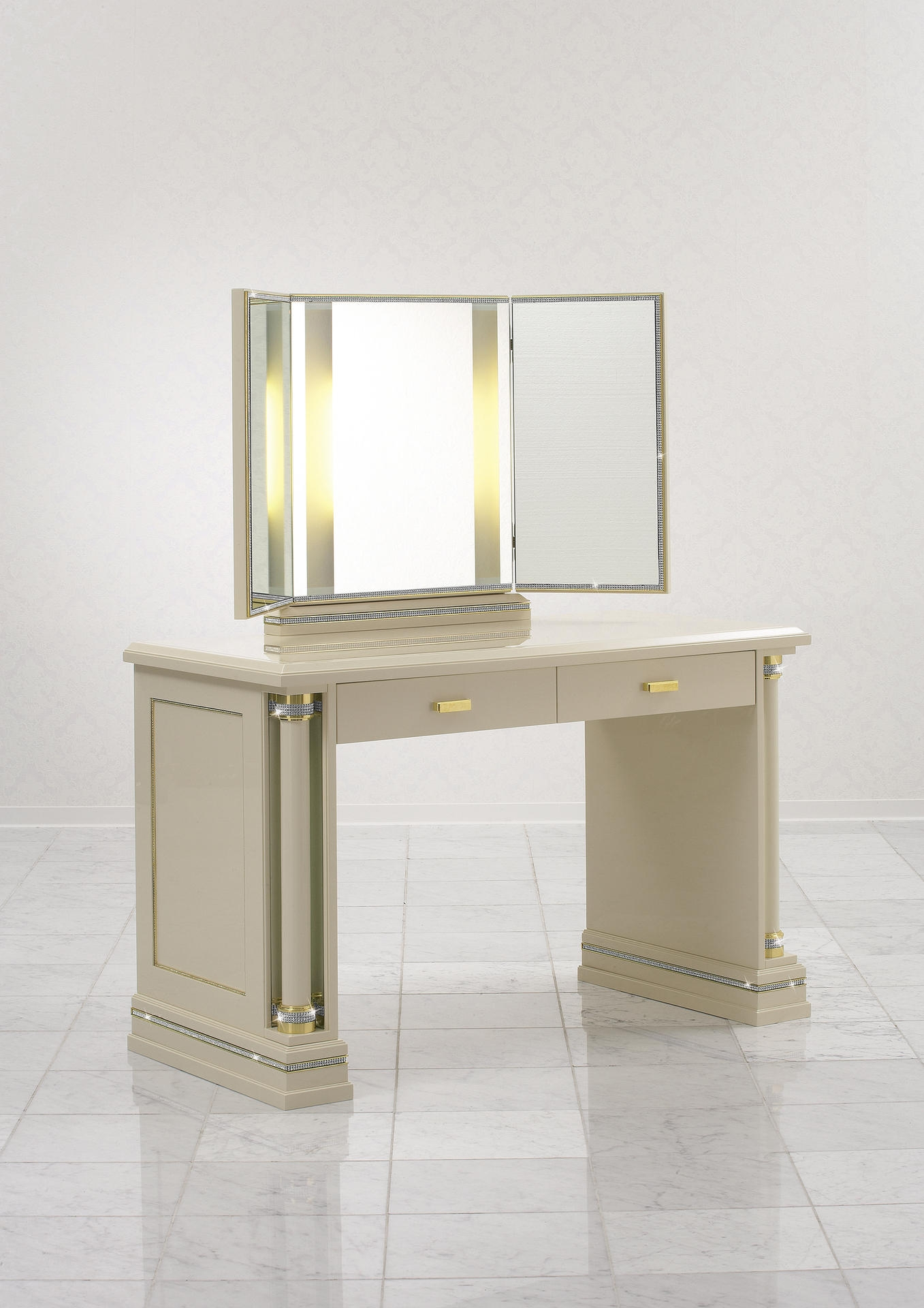 Furniture With Swarovski Crystals Piato Finkeldei Throughout Illuminated Dressing Table Mirrors (Image 11 of 15)