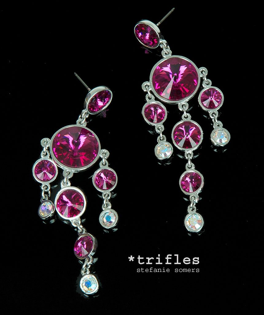 Fuschia Chandelier Earrings Earrings Collection Regarding Fuschia Chandelier (Image 4 of 15)