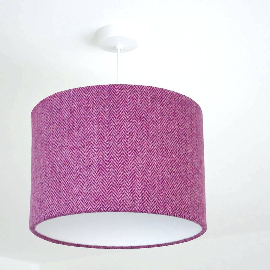 Fuschia Pink Lamp Shade Tag Pink Table Lamp Shades Regarding Fuschia Chandelier (Image 6 of 15)