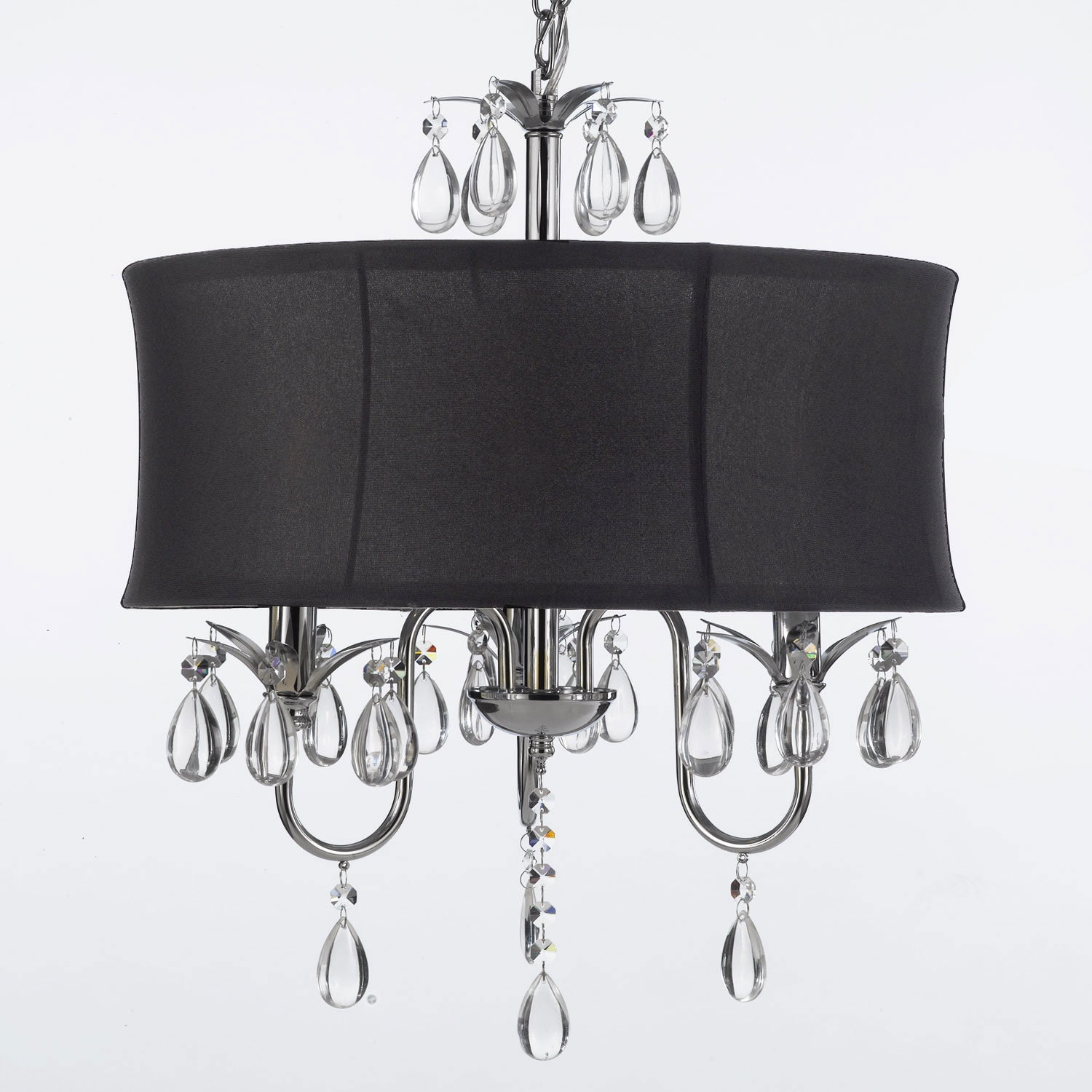 G7 Black8343 Chandeliers With Shades Crystal Chandelier With Pertaining To Black Contemporary Chandelier (View 12 of 15)