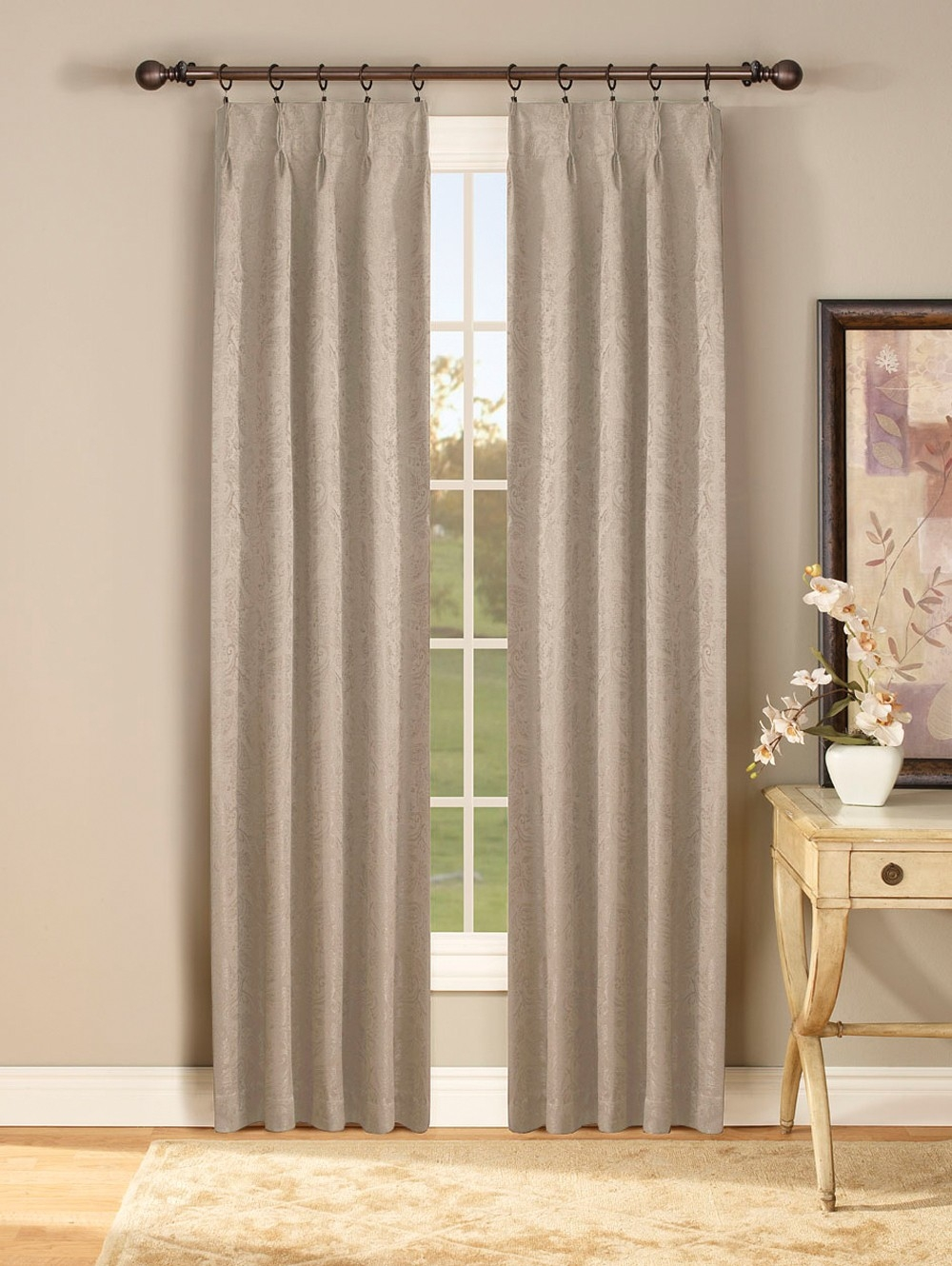 Gabrielle Thermal Insulated Pinch Pleat Curtain Pair Curtain With Regard To Double Pinch Pleat Curtains (Image 7 of 15)
