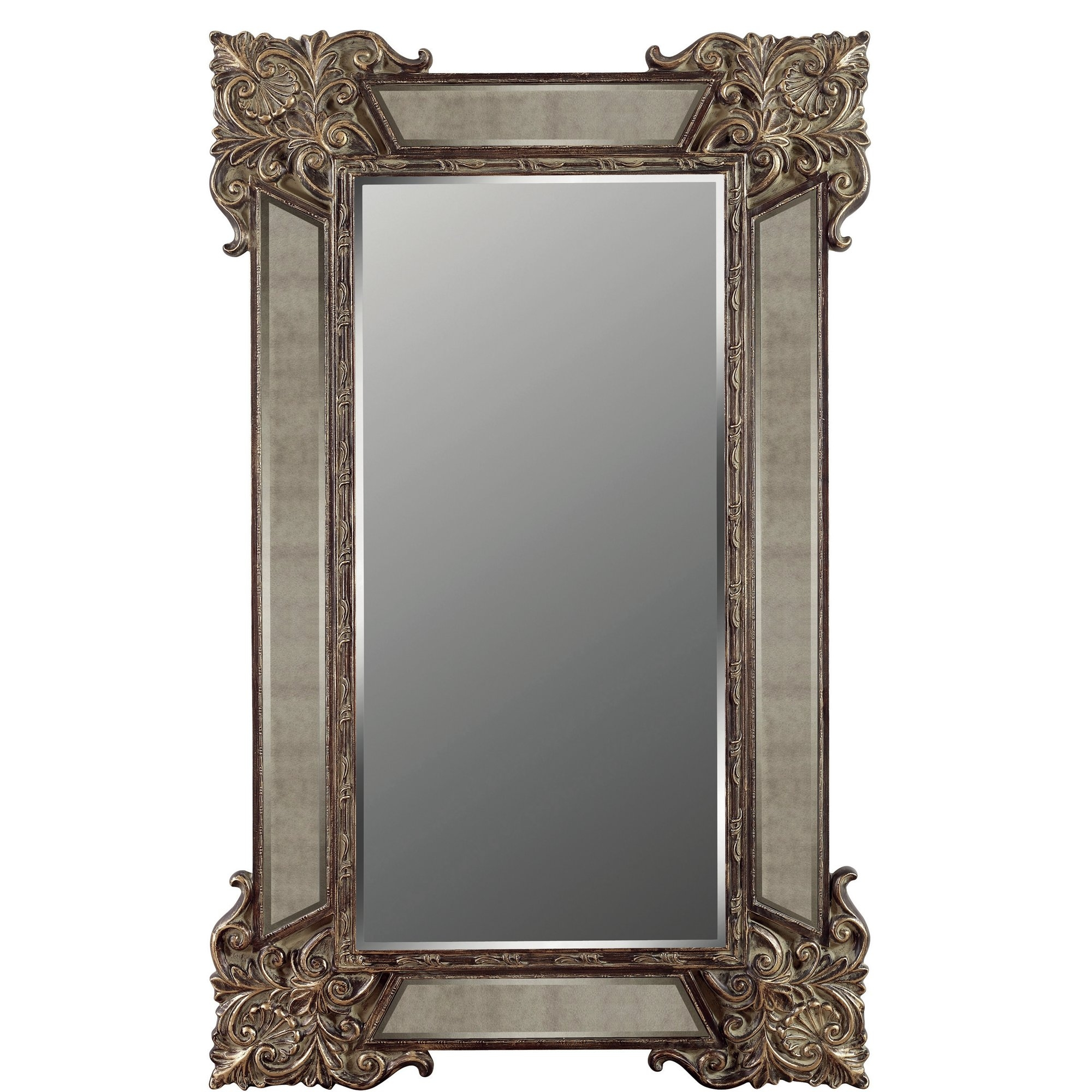 Galaxy Home Decoration Domingo Full Length Floor Mirror Wayfair For Antique Floor Length Mirror (View 11 of 15)