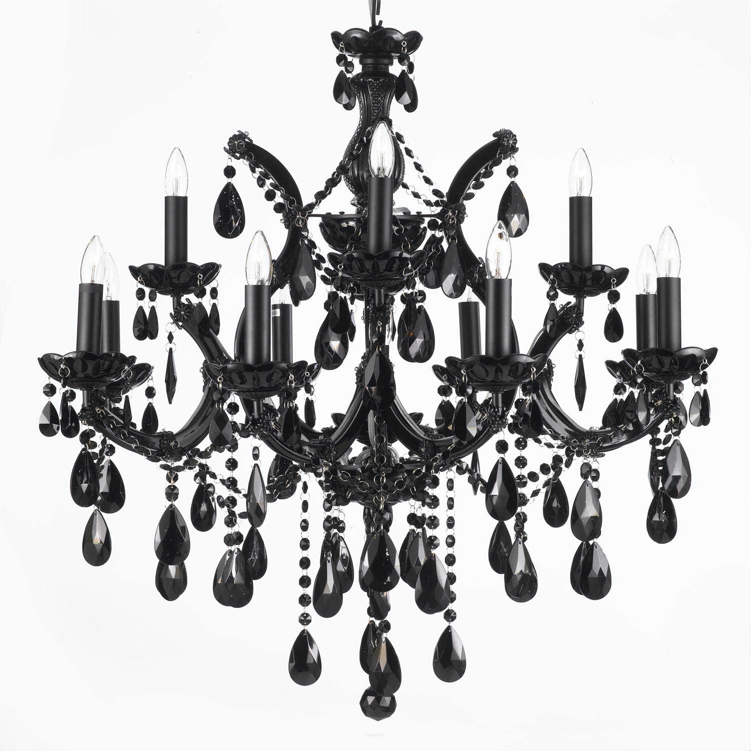 Gallery84 Wwwgallery84 Chandelier Chandeliers Crystal Throughout Black Chandelier (Image 10 of 15)