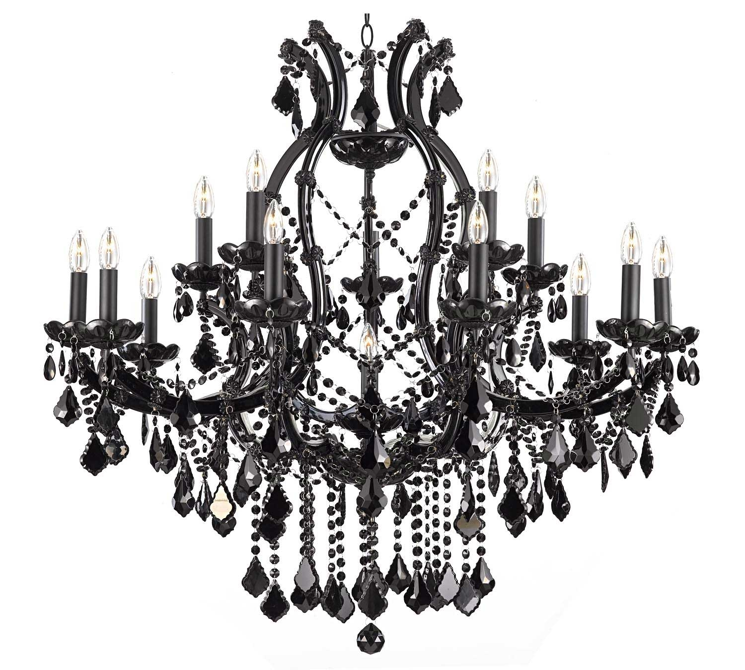 Gallery84 Wwwgallery84 Chandelier Chandeliers Crystal Within Black Chandeliers (Image 14 of 15)