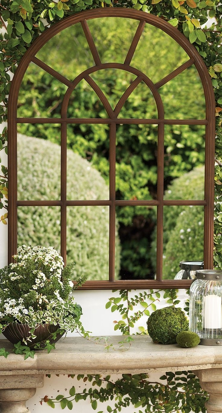 Garden Mirrors Applications To Reflect The Outdoor And Styles Intended For Outside Garden Mirrors (View 2 of 14)