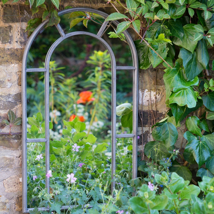 Garden Mirrors Garden Mirror 6ft X 1ft Large Narrow Garden Mirror Throughout Garden Mirror (Image 10 of 15)