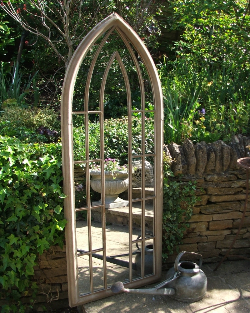 Garden Mirrors Garden Mirror 6ft X 1ft Large Narrow Garden Mirror With Garden Mirrors (Image 12 of 15)
