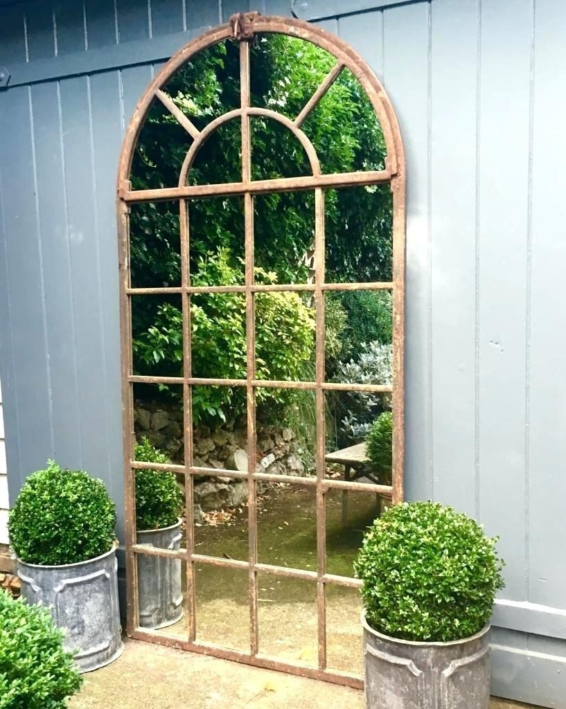 Garden Window Mirror Pitchloveco Intended For Garden Wall Mirrors (Image 8 of 15)