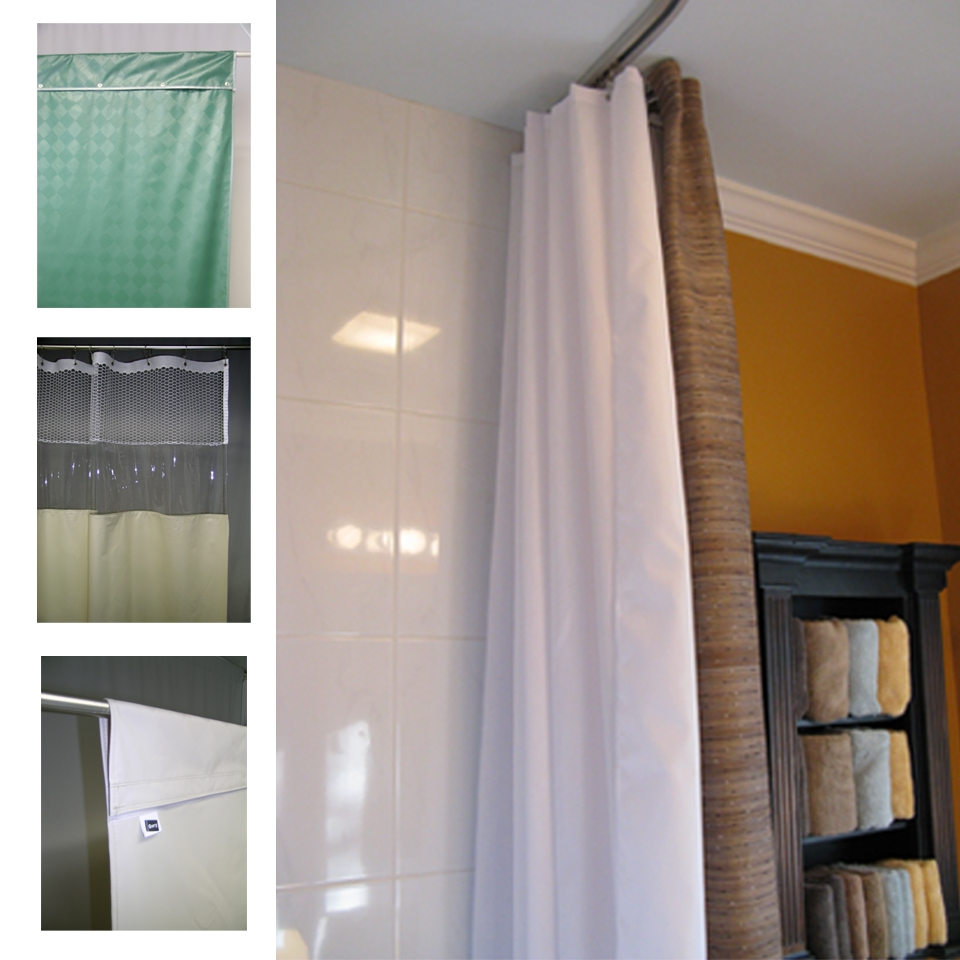 Gary Manufacturing Inc See Through Top Panel Shower Curtains Pertaining To Extra Long Curtains (Image 11 of 15)