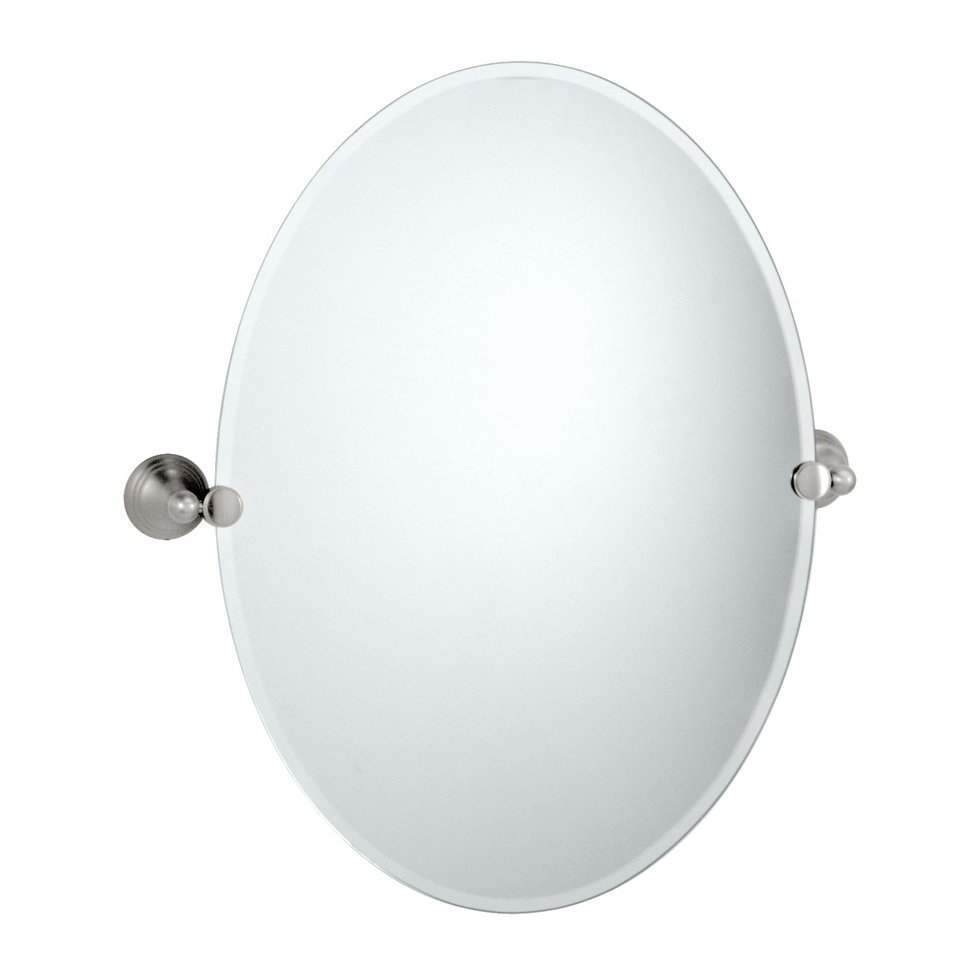 Gatco Charlotte Oval Wall Mirror Reviews Wayfair For White Oval Wall Mirror (Image 4 of 15)