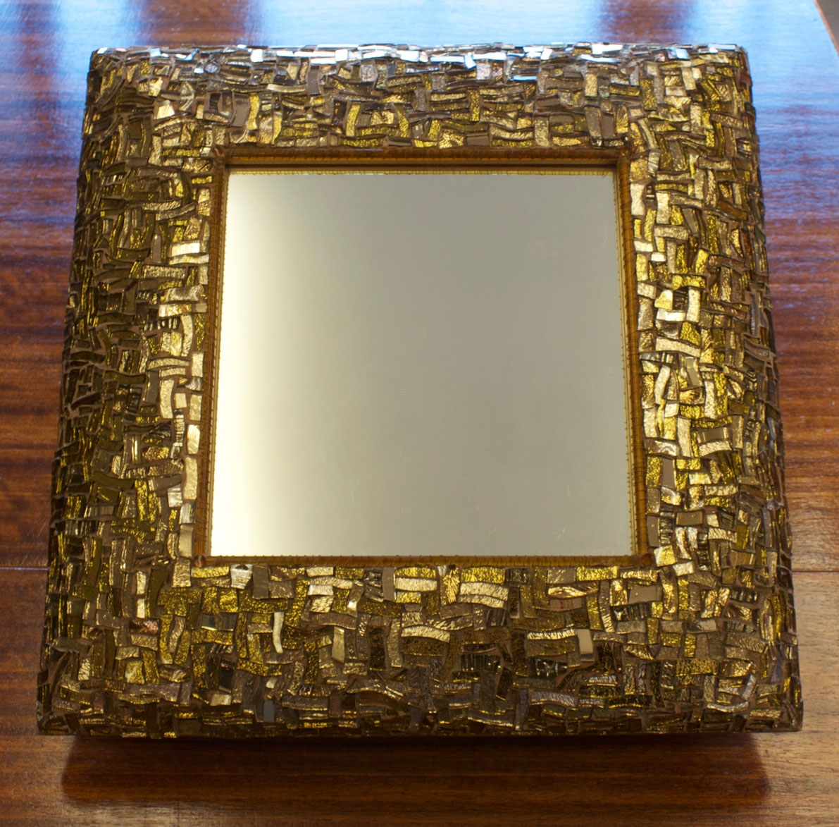 Gbad Design Room Bronze Glass Mosaic On Mirror Frame With Bronze Mosaic Mirror (Image 9 of 15)