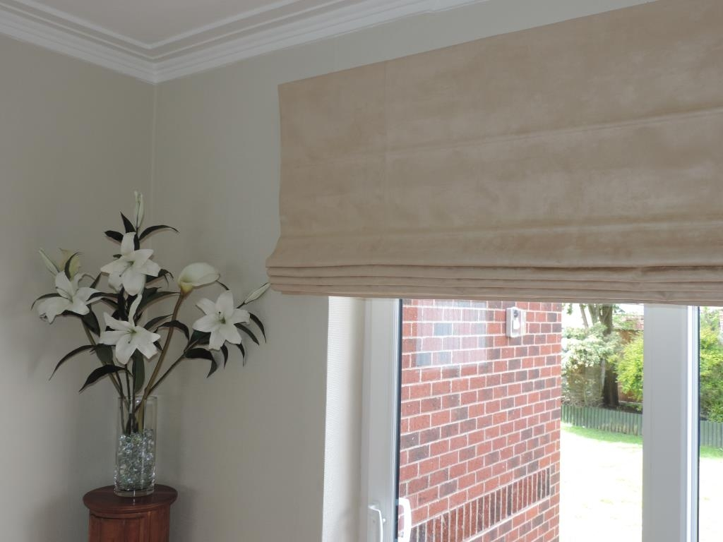 Geoff Wilkinsons Select Blinds Roman Blinds Blackpool Within Blackout Roman Blind (Image 10 of 15)