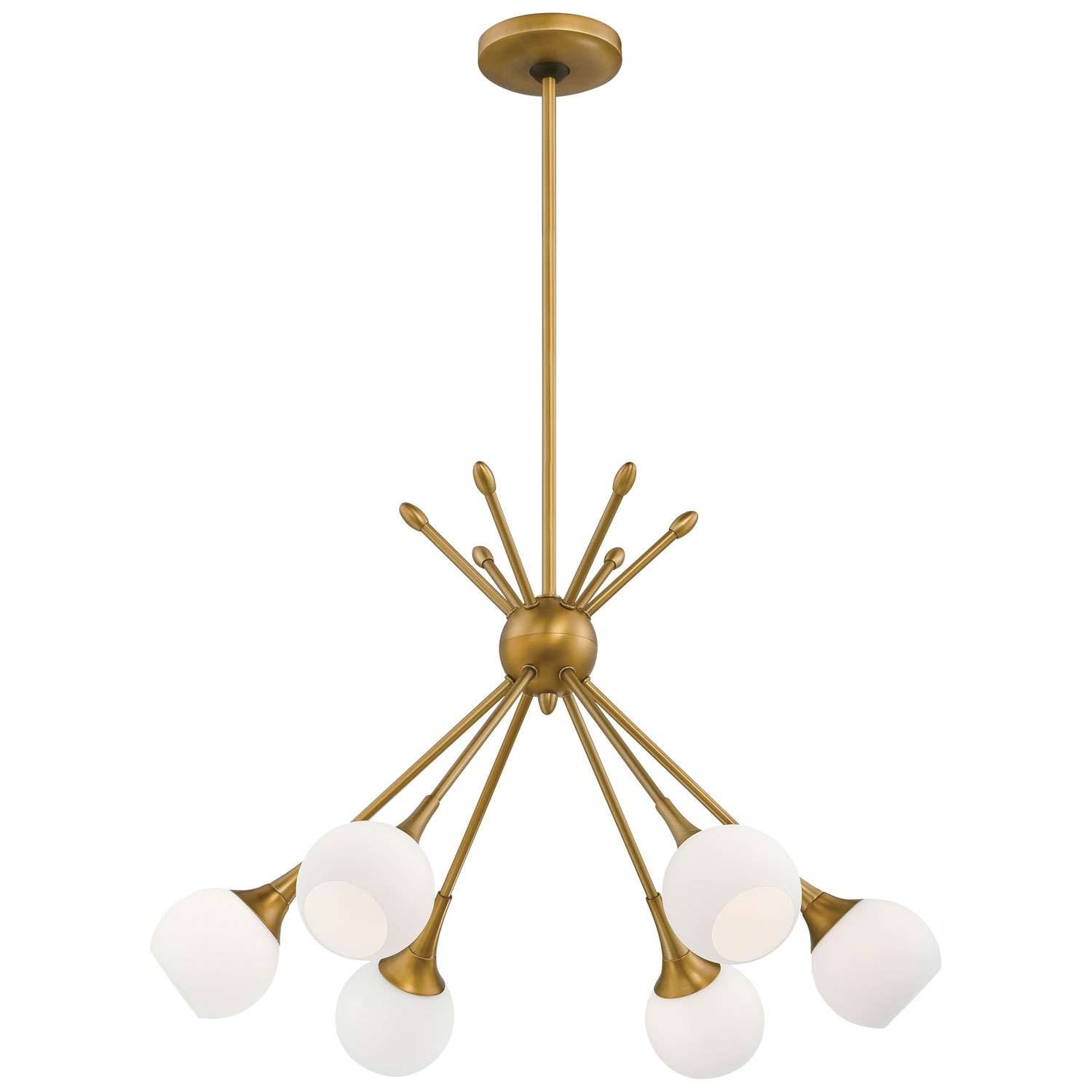 George Kovacs Pontil Honey Gold Six Light Chandelier On Sale Pertaining To Chandelier Lights (Image 12 of 15)