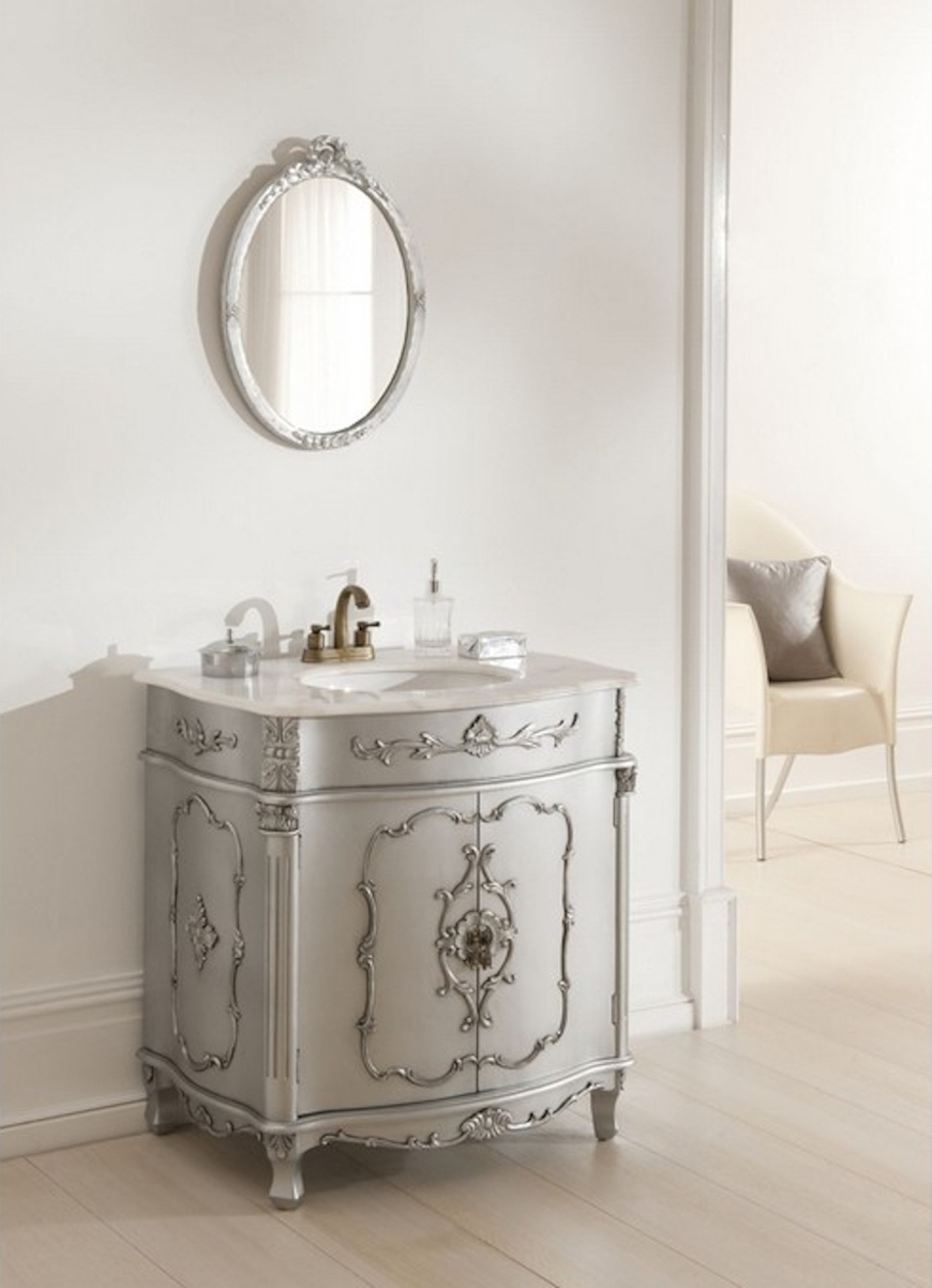 Get Inspired With Gorgeous French Country Interior Design Ideas Intended For French Bathroom Mirror (Image 13 of 15)