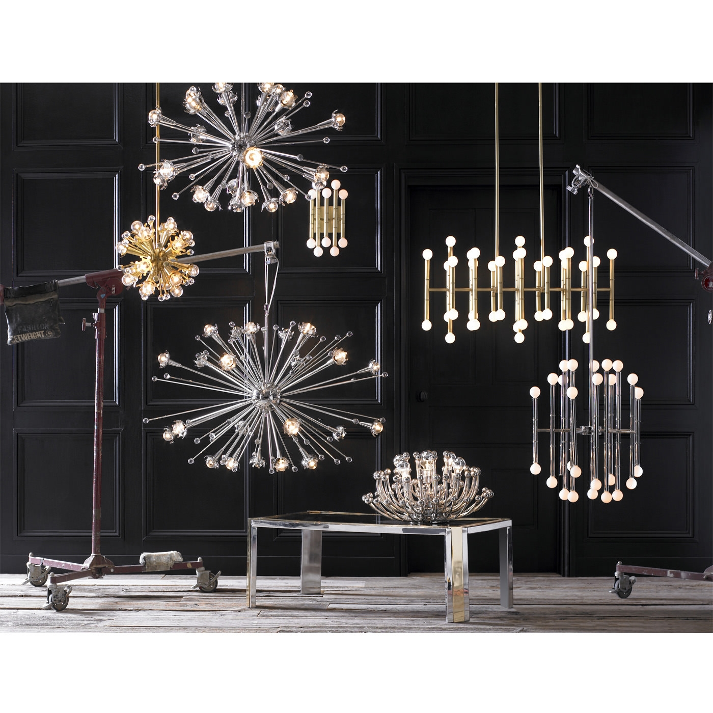 Giant Sputnik Chandelier Modern Lighting Jonathan Adler In Giant Chandeliers (Image 8 of 15)