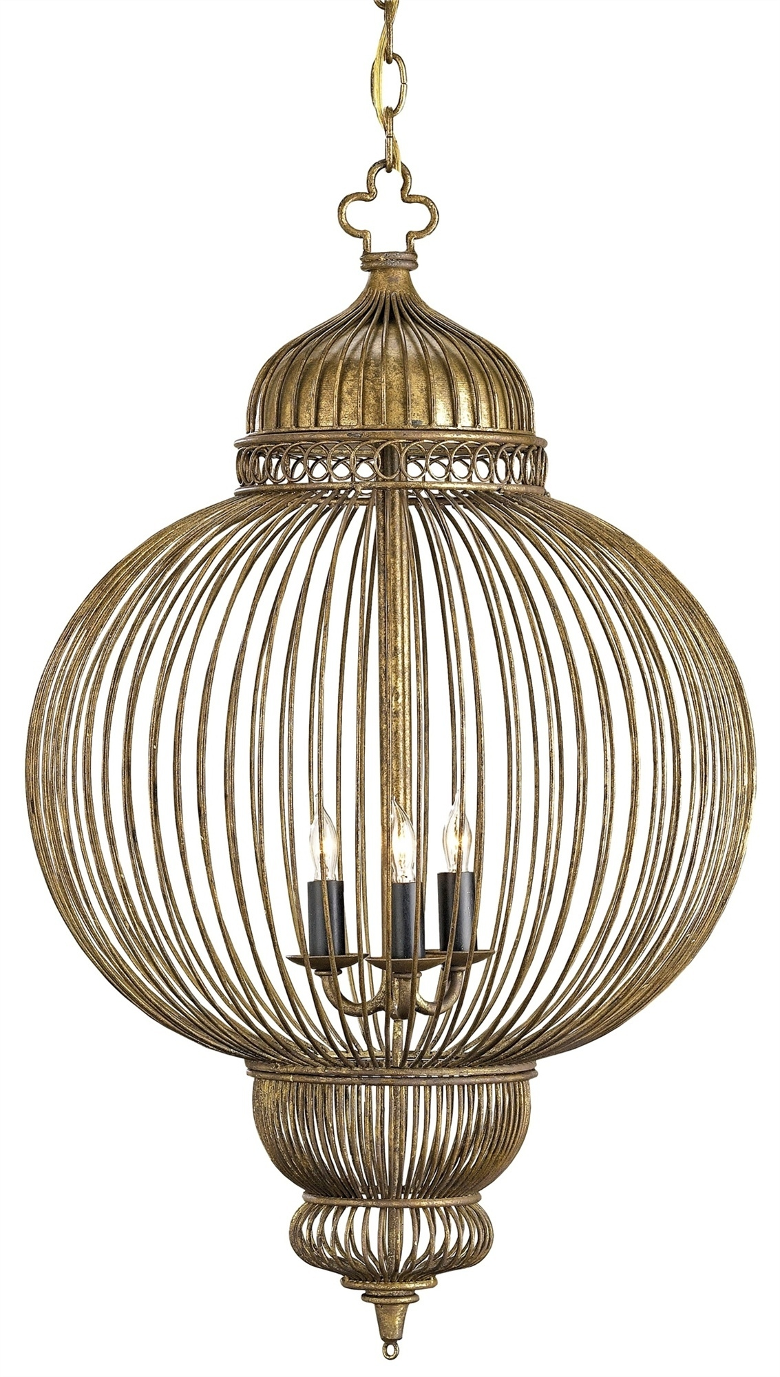 Giltspur Chandelier Lighting Currey And Company Regarding Caged Chandelier (Image 7 of 15)