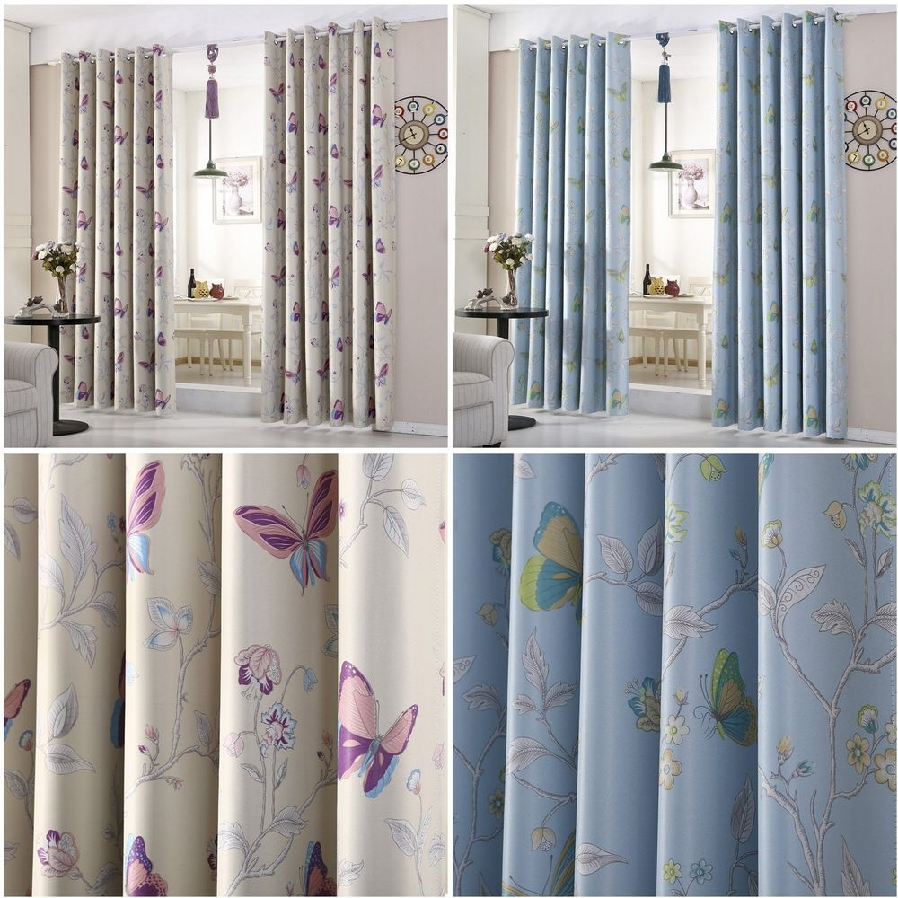 Girls Bedroom Curtains Ebay Inside Thermal Bedroom Curtains (View 9 of 15)