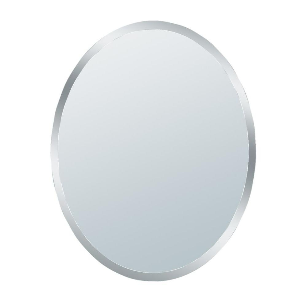 Glacier Bay 31 In X 21 In Small Beveled Oval Mirror 1845 The In Oval Bevelled Mirror (View 3 of 15)