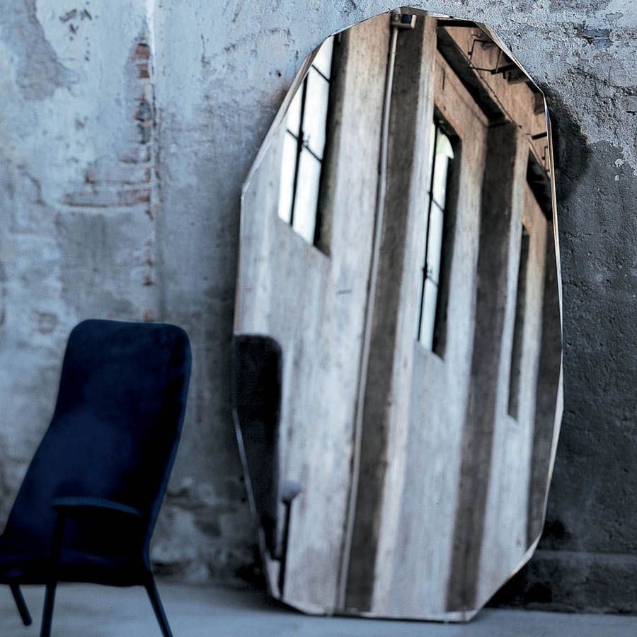 Glas Italia Kooh I Noor Modern Floor Standing Mirror Piero With Contemporary Floor Standing Mirrors (Image 11 of 15)
