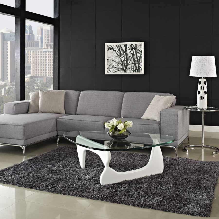 Glass Display Case Coffee Table Designs Are All Made Of Glass But Throughout Coffee Table For Sectional Sofa With Chaise (View 8 of 15)